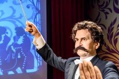 De Wasmuseum van Johann Strauss Figurine At Madame Tussauds royalty-vrije stock fotografie