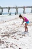 De wassen van de olie aan wal in Strand Pensacola Royalty-vrije Stock Fotografie