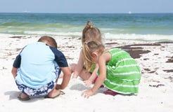 De wassen van de olie aan wal in Strand Pensacola Royalty-vrije Stock Foto