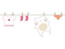 De wasserij van de baby Royalty-vrije Stock Afbeeldingen