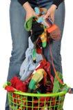 De wasserij van sokken Stock Foto's