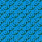 De waterballen omcirkelt Naadloos Patroon stock illustratie