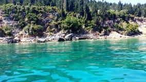 De wateren van het Paxoseiland, Griekenland Royalty-vrije Stock Afbeelding