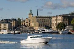 De wateren van Stockholm Stock Foto's