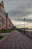 De waterkant de stad van Brugge, Yoshkar-Ola, Rusland Royalty-vrije Stock Foto's