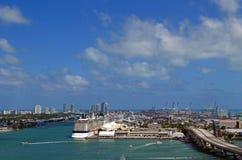 De Waterkant Scenics van Miami Stock Foto's