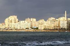 De waterkant van Alexandrië Stock Afbeeldingen