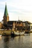 De waterkant van Bremen, Duitsland Royalty-vrije Stock Afbeeldingen