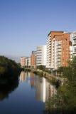 De Waterkant van de Kade van Whitehall, Leeds, Yorkshire Royalty-vrije Stock Foto's