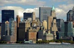De Waterkant van de Stad van New York Stock Afbeelding