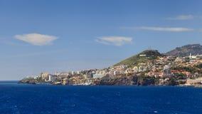 De Waterkant van Funchal Stock Afbeeldingen