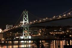 De Waterkant van Halifax bij nacht stock foto