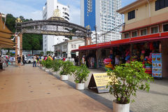 De Waterkant van het Jesseltonpunt in Kota Kinabalu, Sabah Stock Afbeeldingen