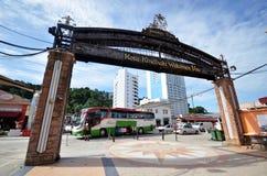 De Waterkant van het Jesseltonpunt in Kota Kinabalu, Sabah Stock Foto