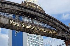 De Waterkant van het Jesseltonpunt in Kota Kinabalu, Sabah Royalty-vrije Stock Foto