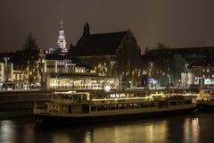 De Waterkant van Maastricht Stock Foto