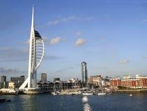De waterkant van Portsmouth Royalty-vrije Stock Foto's