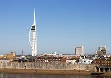 De waterkant van Portsmouth Stock Afbeeldingen
