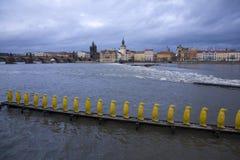 De waterkant van Praag Royalty-vrije Stock Afbeelding