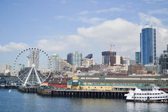 De Waterkant van Seattle, Seattle, Washington Stock Foto