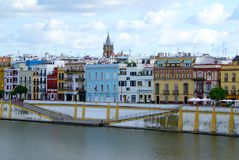 De waterkant van Sevilla Royalty-vrije Stock Foto's