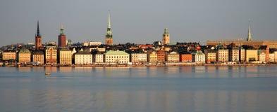 De Waterkant van Stockholm Stock Afbeelding
