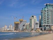 De waterkant van Tel Aviv ` s Royalty-vrije Stock Afbeelding
