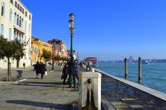 De waterkant van Venetië Royalty-vrije Stock Afbeelding