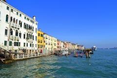 De waterkant van Venetië Royalty-vrije Stock Foto's