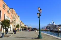 De waterkant van Venetië Stock Afbeelding