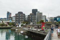 De waterkant van Wellington, Nieuw Zeeland stock afbeelding