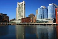 De waterkanthorizon van Boston Stock Foto's