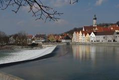 De Waterkering van Landsberg stock afbeelding