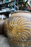 De waterkruik met draakpatroon royalty-vrije stock foto