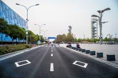 De Waterkubus en Olympics Vallage in Peking stock afbeelding