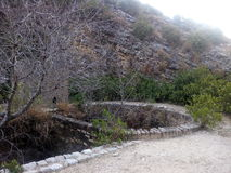 De waterlente in de bergen stock foto
