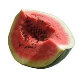 De watermeloen isoleerde wit Royalty-vrije Stock Foto's