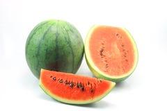 De watermeloen isoleert op witte achtergrond Stock Afbeelding