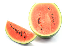 De watermeloen isoleert op witte achtergrond Royalty-vrije Stock Foto