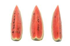 De watermeloen isoleert op witte achtergrond Stock Foto's