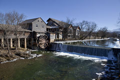 De watermolen in Duif smeedt, Tennessee Royalty-vrije Stock Foto's