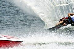 De Waterski van de slalom Royalty-vrije Stock Foto's