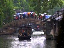 De waterstad wuzhen stijl royalty-vrije stock afbeelding