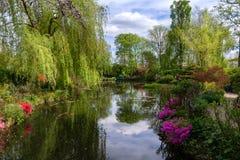 De watertuin van Claude Monet stock afbeeldingen