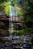 De waterval Brecon bebakent nationaal park, Wales het UK Stock Afbeelding