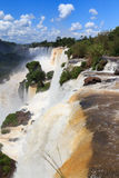 De waterval Foz doet Iguazu, Argentinië Stock Afbeeldingen