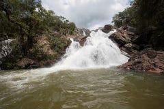 De waterval Goias Brazilië van Santa Maria van Cachoeira Stock Foto