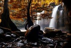 De waterval Haewsuwat in Thailand en de waterval zijn mooi Royalty-vrije Stock Afbeelding