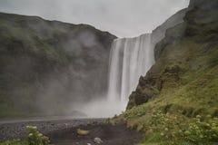 De waterval IJsland van Skogafoss stock afbeelding