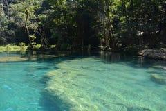 De Waterval Lanquin Guatemala van Semucchampey royalty-vrije stock fotografie